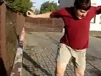 Fat Kid Parkour Fail