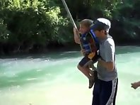 Toddler Rope Swing Fail