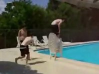 Pool Stunt Ends Painfully