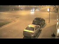 Crash at an intersection