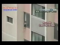 TRAGIC 5 Year Old Girl Playing out Window cant Hold On and Falls to H