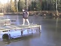 Fat Guy Lake Cannonball Fail