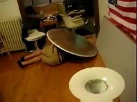 Painful Drunk Table Slam